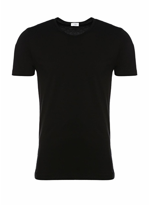 Zimmerli Bisiklet Yaka Tişört Siyah